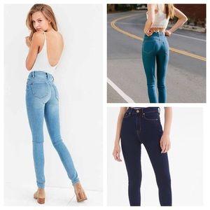 BDG Twig High Rise skinny jeans light denim
